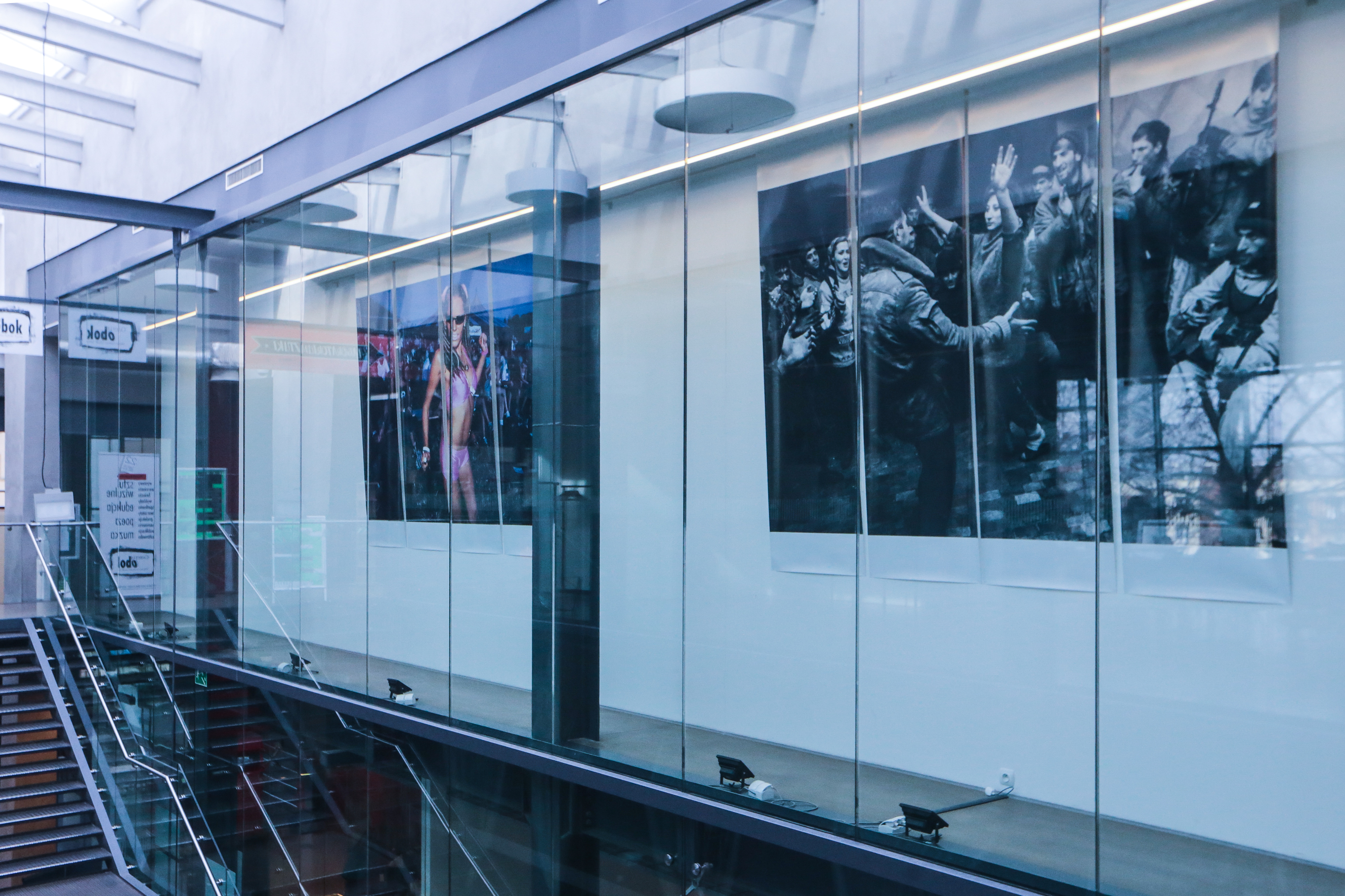 Wystawa w galerii Obok, M. Forecki, fot. Dominik Gajda